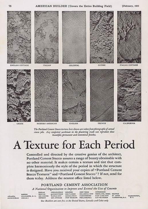 Vintage Stucco Ads